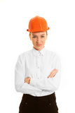 Młoda kobieta architekt zdjęcie stock