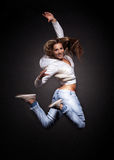 Młoda kobieta atrakcyjny taniec Zdjęcie Stock