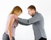 Młoda kobieta bój z mężczyzna Zdjęcia Stock