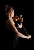 Młoda kobieta bawić się skrzypce Obraz Stock