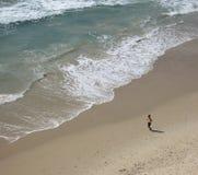 Młoda kobieta bieg w beaut fotografia royalty free