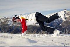 Młoda kobieta cieszy się zima sporty Zdjęcie Stock