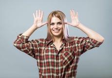 Młoda kobieta dokucza obrazy stock
