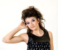 Młoda Kobieta folująca ciało ręka w włosy Obrazy Stock