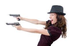 Młoda kobieta gangster Zdjęcia Stock