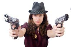 Młoda kobieta gangster Obraz Royalty Free