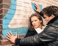 Młoda kobieta ma kłopot z mężczyzna Fotografia Royalty Free