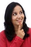 młoda kobieta myślące Zdjęcie Stock