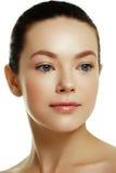 Młoda kobieta piękna twarz Kobiety piękna twarz obrazy stock