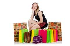 Młoda kobieta po robić zakupy Obrazy Stock