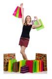 Młoda kobieta po robić zakupy Obraz Stock