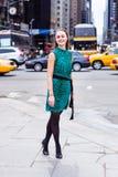 Młoda Kobieta podróżuje w Nowy Jork obrazy stock