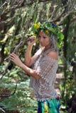 Młoda kobieta portret jest ubranym wianek zdjęcie royalty free