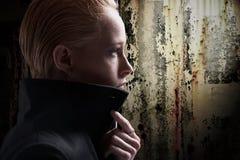 Młoda kobieta profil zdjęcia stock