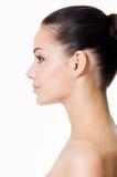 Młoda kobieta profilowa twarz obraz royalty free