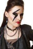 Młoda Kobieta projektująca jak gwiazda rocka Fotografia Royalty Free