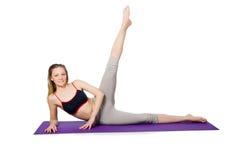 Młoda kobieta robi ćwiczeniom Zdjęcie Stock