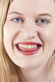 Młoda kobieta smiling.GN Obraz Royalty Free