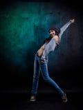 Młoda kobieta tancerz zdjęcia royalty free
