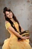Młoda Kobieta Ubierająca w Princess suknia Obrazy Stock