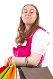 Młoda kobieta uzależniająca się robić zakupy Obrazy Stock
