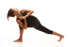 Młoda kobieta w joga pozie Obraz Royalty Free