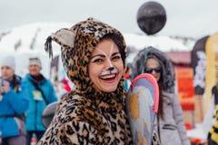 Młoda Kobieta w Karnawałowym kostiumu Obrazy Stock