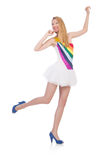 Młoda kobieta w modzie Fotografia Stock
