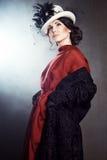 Młoda kobieta w retro stylu zdjęcie royalty free