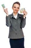 Młoda kobieta wydawać pieniądzy Obrazy Stock