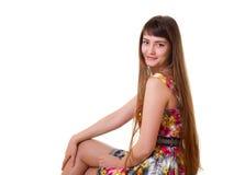 Młoda kobieta z długie włosy Obrazy Stock