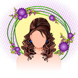 Młoda Kobieta z eleganckim Włosianym stylem Obrazy Stock