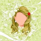 Młoda Kobieta z eleganckim Włosianym stylem Zdjęcia Royalty Free