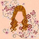 Młoda Kobieta z eleganckim Włosianym stylem Fotografia Royalty Free