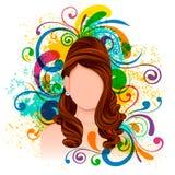 Młoda Kobieta z eleganckim Włosianym stylem Zdjęcie Royalty Free