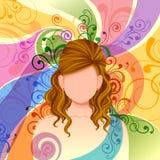 Młoda Kobieta z eleganckim Włosianym stylem Obrazy Royalty Free