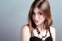 Młoda kobieta z fantazja makijażem Zdjęcia Royalty Free