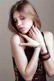 Młoda kobieta z fantazja makijażem Obraz Royalty Free