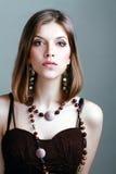 Młoda kobieta z fantazja makijażem Obrazy Royalty Free