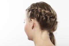 MŁODA KOBIETA Z GALONOWYM włosy Obraz Stock
