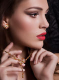 Młoda kobieta z makeup zdjęcia stock