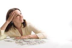 Młoda kobieta z pieniądze obraz stock