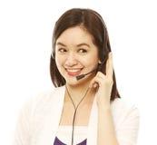 Młoda Kobieta z Słuchawki obrazy stock