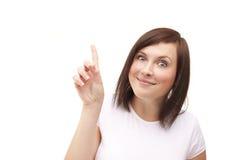 Młoda kobieta z szalonym uśmiechem obraz stock