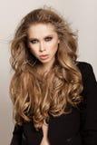 Długi Falisty włosy Zdjęcia Stock