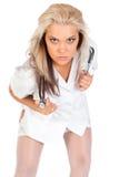 Młoda kobiety lekarka z stetoskopem zdjęcia stock
