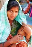 Ðother, dziecko, India Obrazy Stock