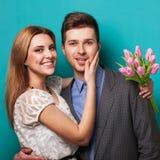 młoda miłość pary Zdjęcie Royalty Free