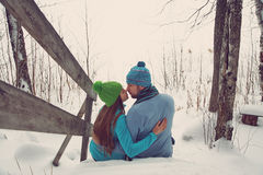 młoda miłość pary Fotografia Royalty Free