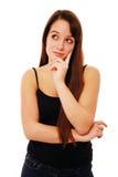 młoda myśląca kobieta Zdjęcia Royalty Free